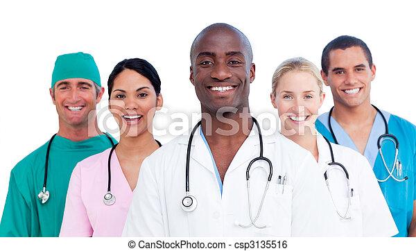 orvosi, pozitív, sportcsapat portré - csp3135516