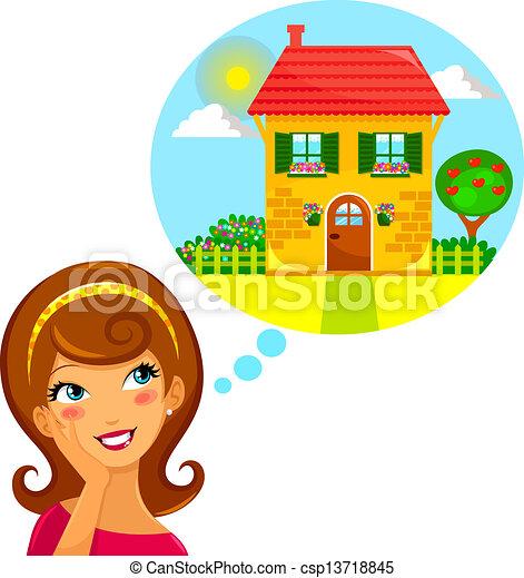 otthon, álmodik - csp13718845