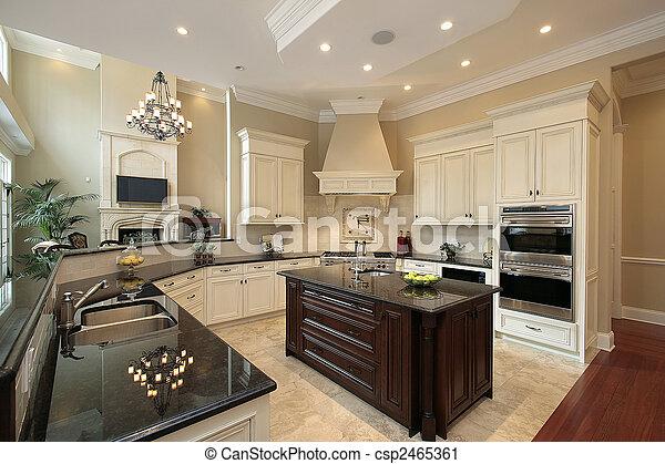 otthon, kortárs, konyha - csp2465361