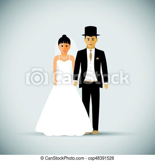 párosít, esküvő - csp48391526