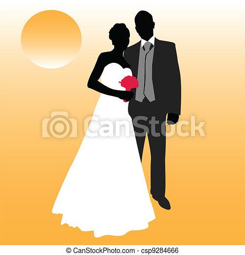 párosít, esküvő - csp9284666