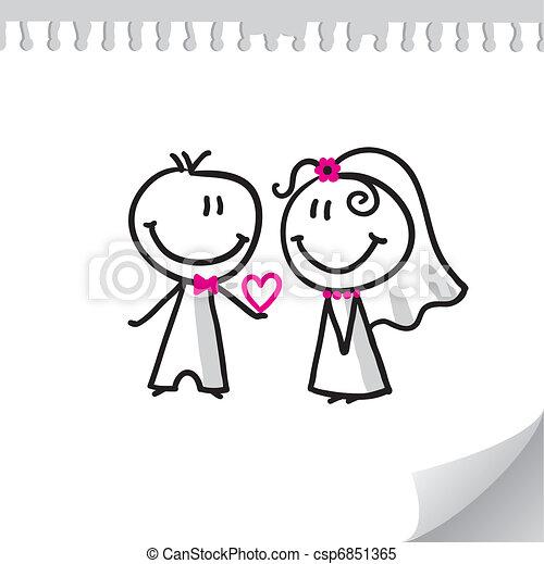 párosít, esküvő - csp6851365