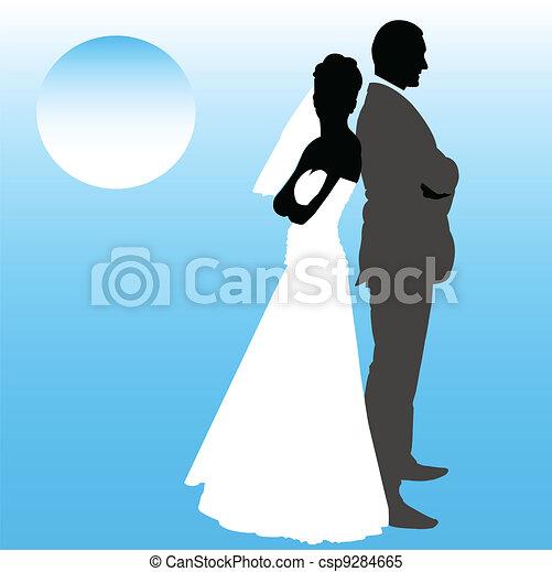párosít, esküvő - csp9284665