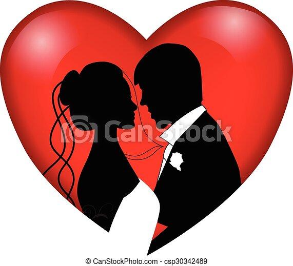 párosít, esküvő - csp30342489