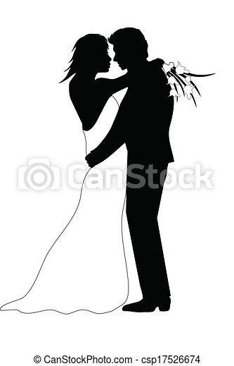 párosít, esküvő - csp17526674
