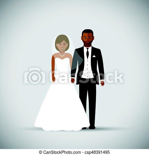 párosít, esküvő - csp48391495