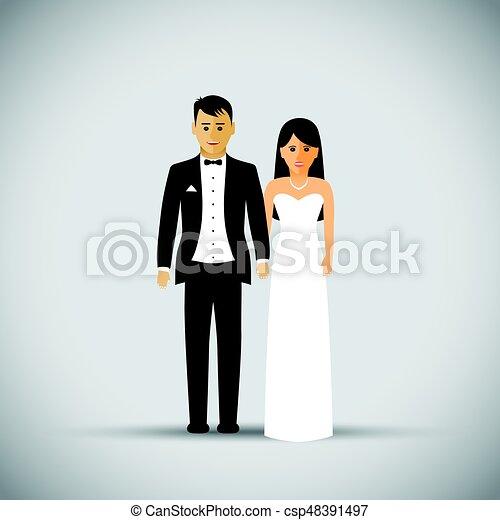 párosít, esküvő - csp48391497