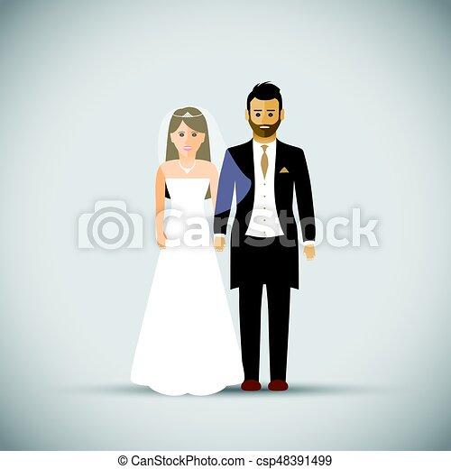 párosít, esküvő - csp48391499