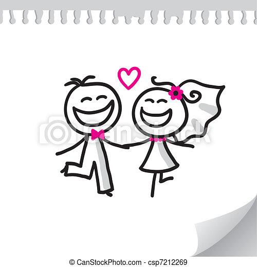 párosít, esküvő - csp7212269