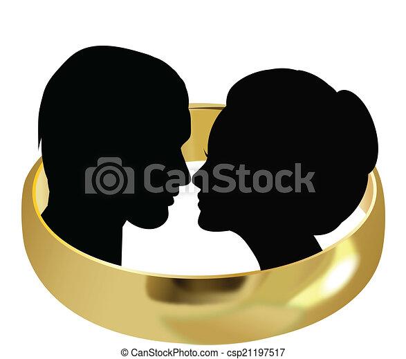 párosít, esküvő - csp21197517