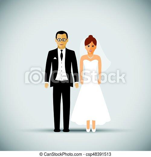 párosít, esküvő - csp48391513