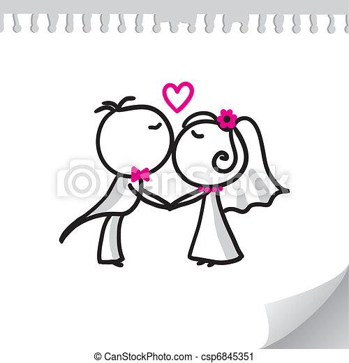 párosít, esküvő - csp6845351