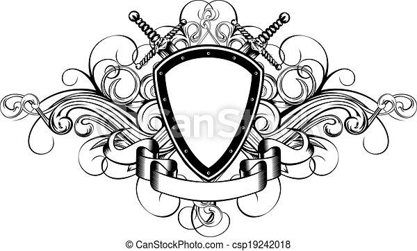 példa, kard, bizottság, keresztbe tett - csp19242018