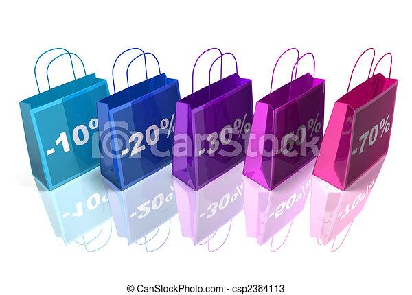 pantalló, bevásárlás - csp2384113
