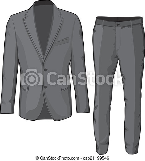 pants., bőr, vektor, illeszt, hím, öltözet - csp21199546