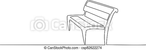 park., erdő, bírói szék, rajz, egyenes, egy - csp82622274