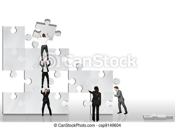 partner, munka, ügy, együtt - csp9149604