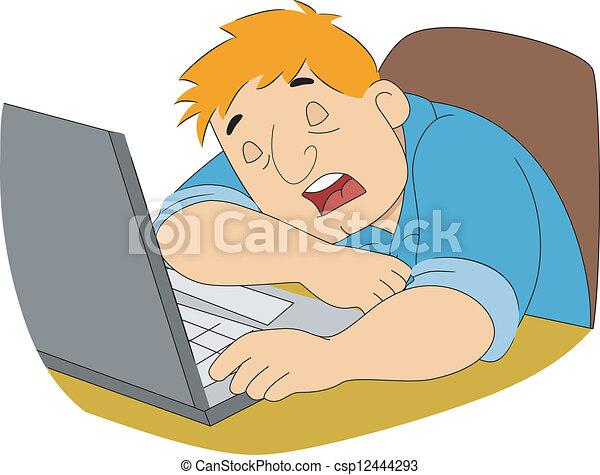 pasas, író, alvás - csp12444293