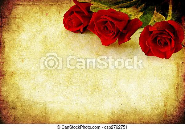 piros grunge, agancsrózsák - csp2762751
