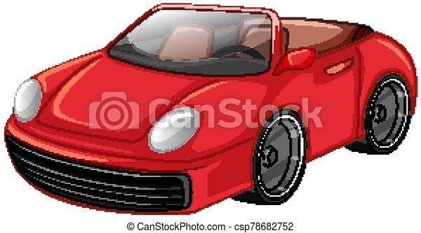 piros háttér, fehér, autó fut - csp78682752