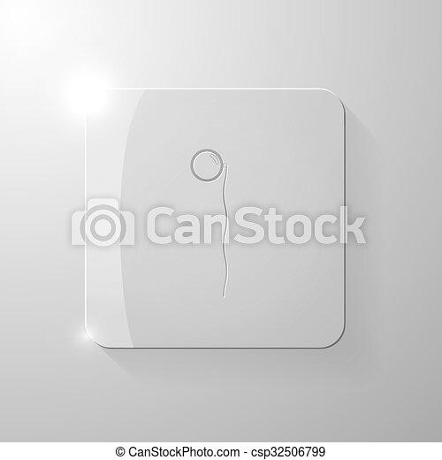pohár, derékszögben, pence-nez, fekete - csp32506799
