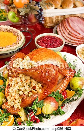 pulyka vacsora - csp0861403