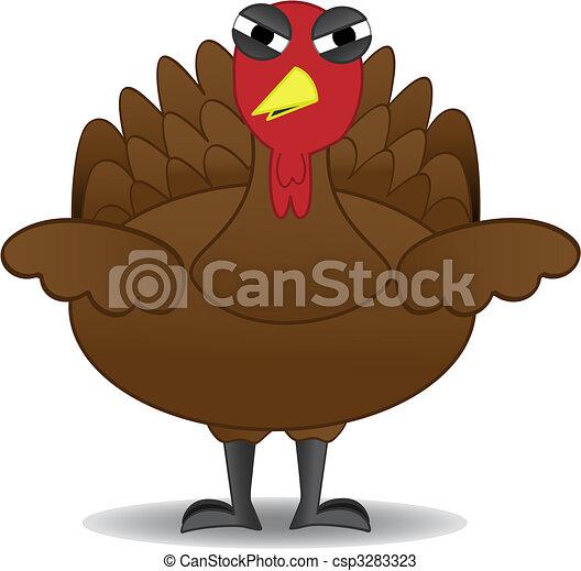pulyka, van, hálaadás, boldogtalan, egyedül, madár - csp3283323