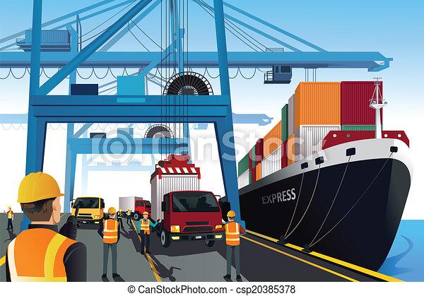 rév, hajózás, színhely - csp20385378