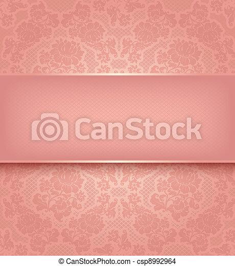 rózsaszínű, díszítő, befűz, háttér, menstruáció, sablon - csp8992964