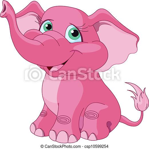 rózsaszínű, elefánt - csp10599254