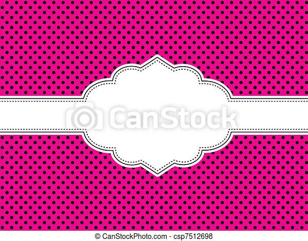 rózsaszínű, polka tarkít, háttér - csp7512698