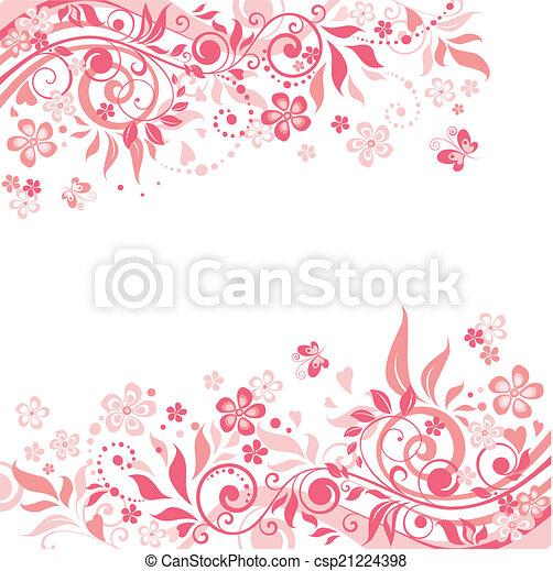 rózsaszínű, virágos, háttér - csp21224398