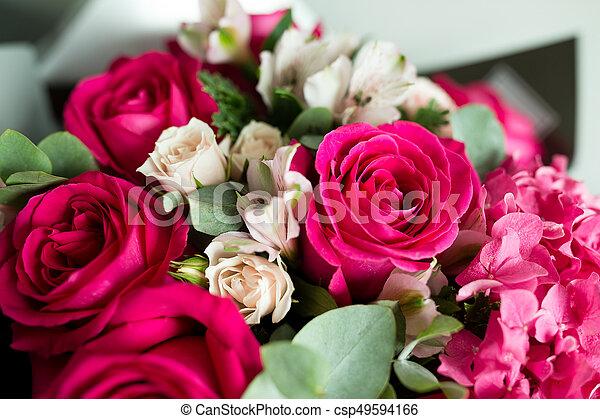 rózsaszín rózsa - csp49594166