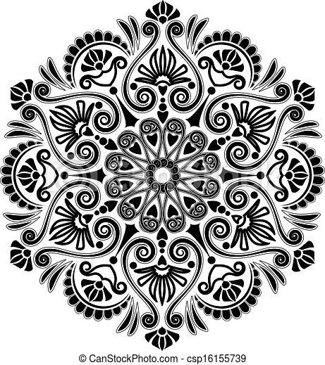 radiális, motívum, geometriai - csp16155739