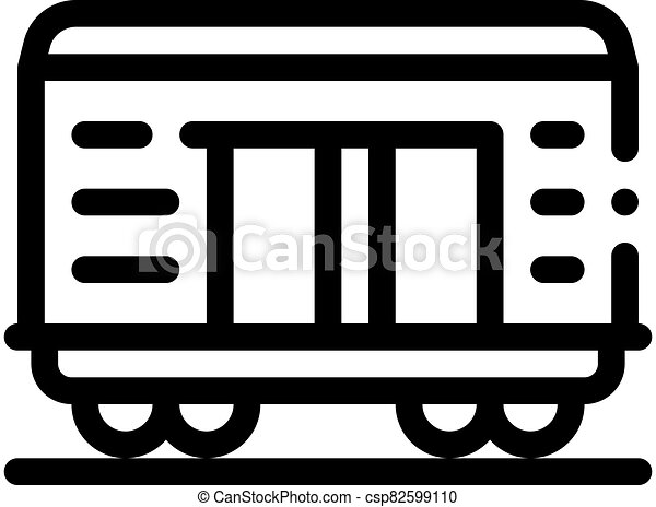 rakomány, áttekintés, ikon, vektor, tehervagon, ábra - csp82599110