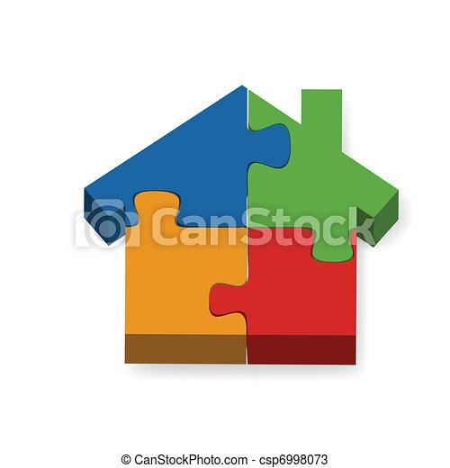 rejtvény, épület - csp6998073