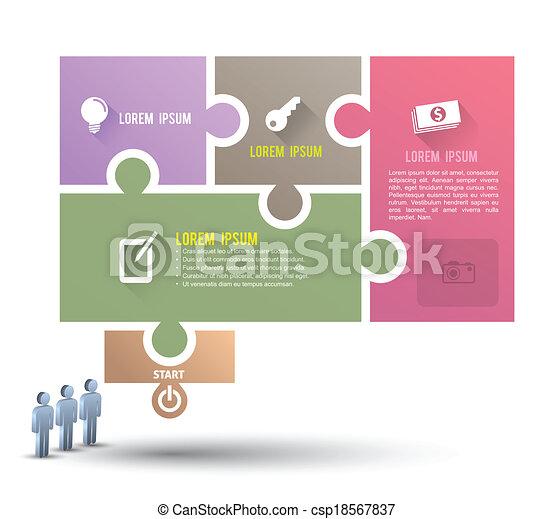 rejtvény, lombfűrész, transzparens - csp18567837