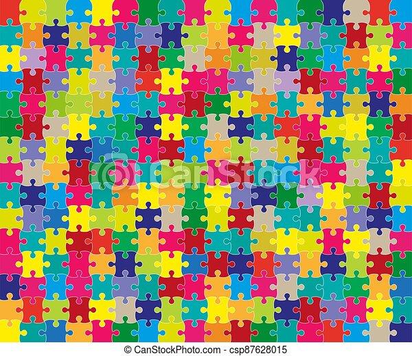 rejtvény, rács, sablon, illustration., color., lombfűrész, vektor - csp87628015