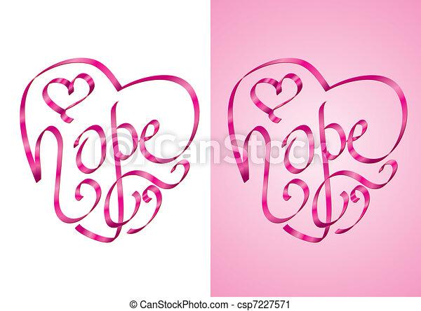 remény, -, tudatosság, rák, mell - csp7227571