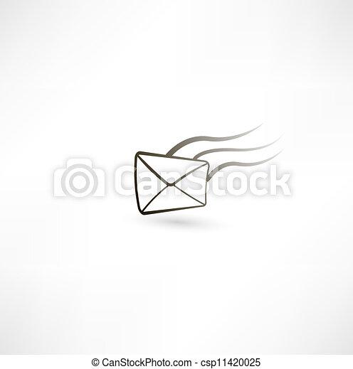repülés, levél - csp11420025