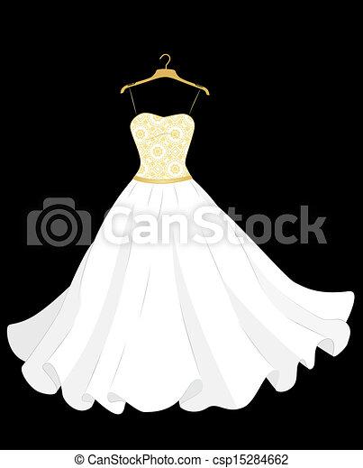 ruha, esküvő - csp15284662