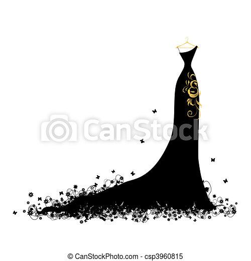 ruha, este, fekete, hirdetmények - csp3960815