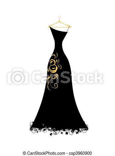 ruha, este, fekete, hirdetmények - csp3960900