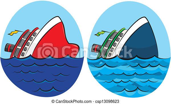 süllyesztés hajó - csp13098623