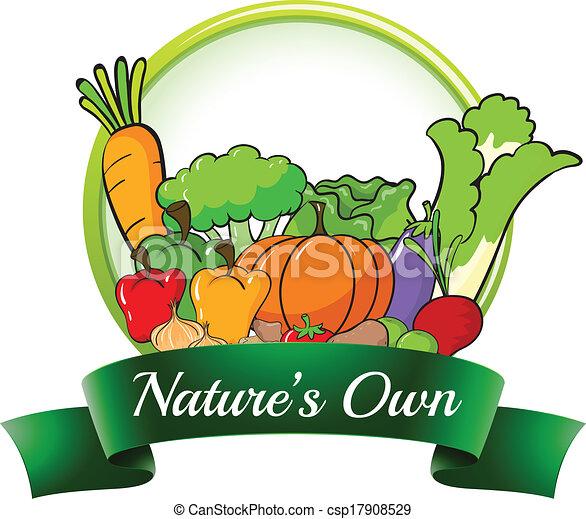 saját, nature's, címke - csp17908529