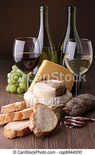 sajt, kolbász, bor - csp6944000