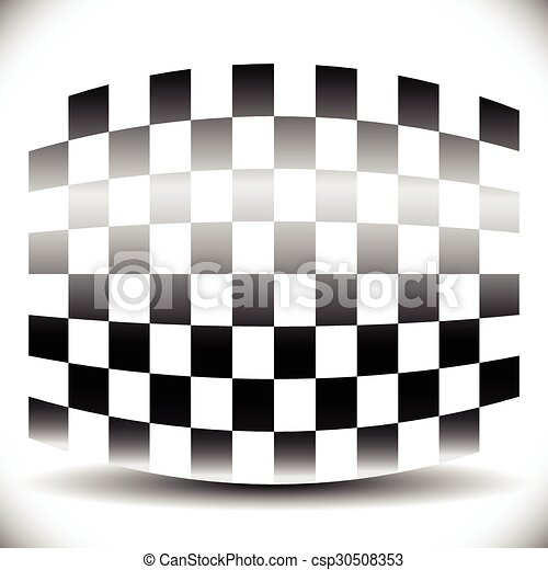 shadow., elvont, checkered lobogó, fehér - csp30508353