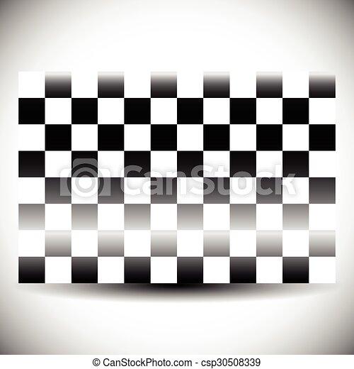 shadow., elvont, checkered lobogó, fehér - csp30508339