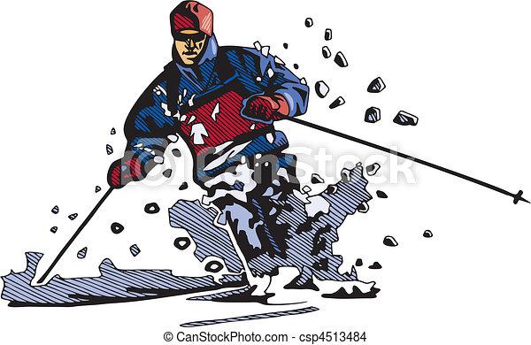 snowboarding, síelés, & - csp4513484