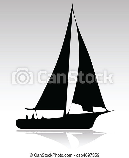 sport, árnykép, változat, csónakázik - csp4697359